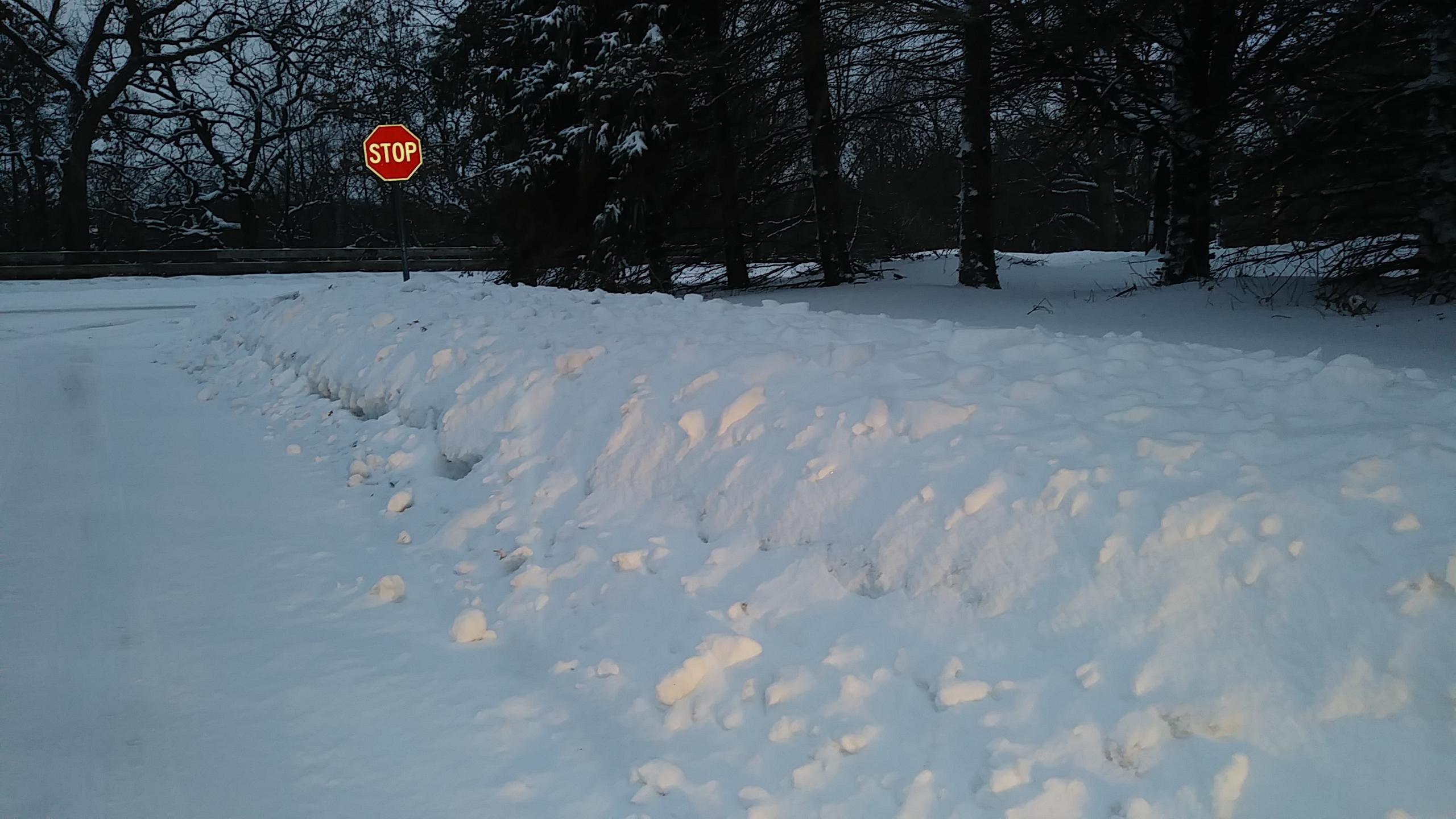 OVERNIGHT SNOW CAUSING SLIPPERY ROADS