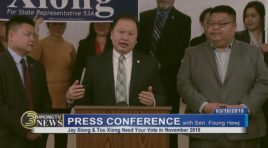 PRESS CONFERENCE: SEN. FOUNG HAWJ CALLS FOR SUPPORT OF TOU XIONG AND JAY XIONG – 03/16/2018