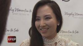 Padee talks with the cast of the Spirit Beside Me (Ntsuj Plig Ntawm Kuv Ib Sab), Hmong drama pilot series