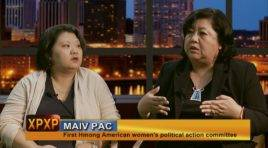 Kaying Yang and Terri Thao from Maiv PAC, the first Hmong American women's political action committee in the US.